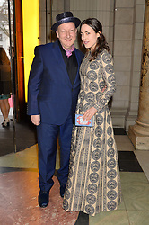 STEPHEN JONES and TALLULAH HARLECH at a VIP preview of the V&A's new exhibition 'The Glamour of Italian Fashion' - a comprehensive look at Italian Fashion from 1945-2014 held at The Victoria & Albert Museum, London on 2nd April 2014.