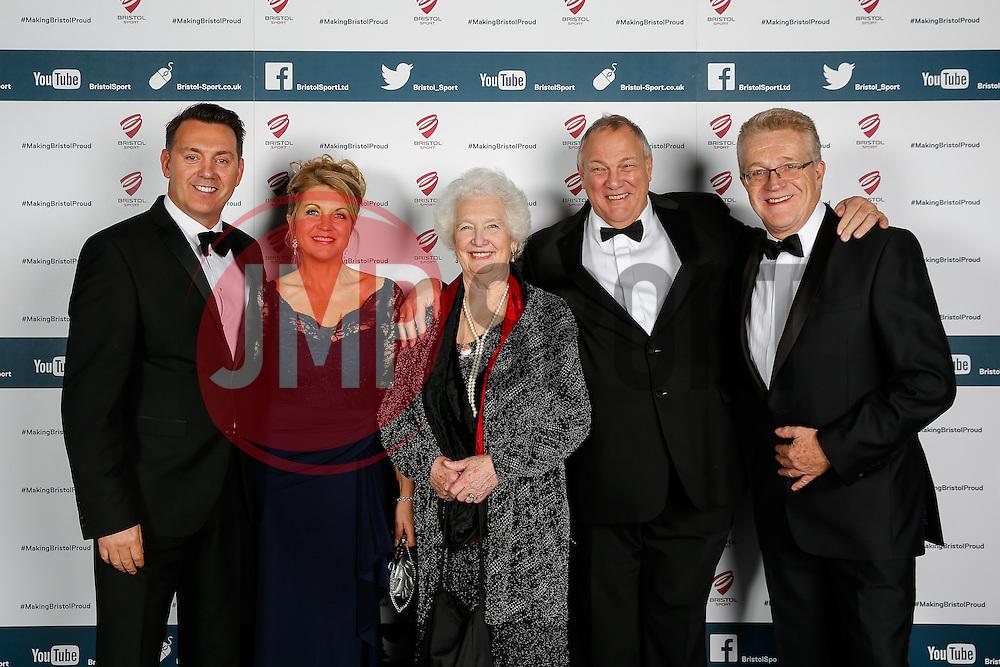 Andrew Billingham, Maria Dolman and Chris Booy attend Bristol Sport's Annual Gala Dinner at Ashton Gate Stadium - Mandatory byline: Rogan Thomson/JMP - 08/12/2015 - SPORT - Ashton Gate Stadium - Bristol, England.