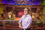 "Hal Real is a seasoned entrepreneur with a passion for new ideas and a history of transforming those ideas into successful businesses. He formed Real Entertainment Group, Inc. in order to ""radically change the landscape for contemporary music audiences and artists."" In October 2004, Hal delivered the first installment of that promise by opening World Cafe Live (WCL), a trailblazing live music venue, restaurant and events complex located at 3025 Walnut Street in Philadelphia. WCL shares the historic Hajoca building with revered public radio station WXPN, whose nationally syndicated ""World Cafe"" radio show inspired the venue's name and musical philosophy — bringing new music to people and new people to music.  Photographed at the Queen Theatre in Wilmington, De. 20 July 2016. Photograph by Jim Graham"