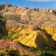 The Yellow Mounds is part of the rugged badlands of Badlands National Park, SD.