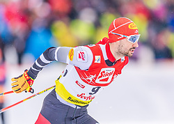 02.02.2020, Seefeld, AUT, FIS Weltcup Nordische Kombination, Langlauf, Gundersen 15 Km, im Bild Lukas Greiderer (AUT) // Lukas Greiderer of Austria during the Gundersen 15 Km Cross Country Competition of FIS Nordic Combined World Cup at the Seefeld, Austria on 2020/02/02. EXPA Pictures © 2020, PhotoCredit: EXPA/ Stefan Adelsberger