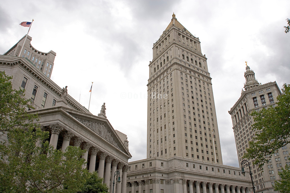 view of courthouse and city hall NYC