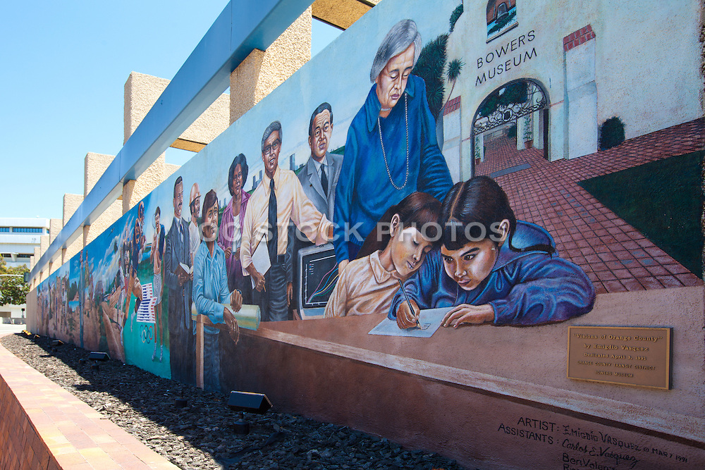 Visions of Orange County Wall Mural in Santa Ana