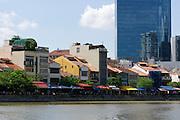 Singapore. Singapore River Cruise. Boat Quay.
