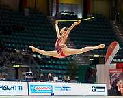 Chiara Vignolini from Raffaello Motto team during the Italian Rhythmic Gymnastics Championship in Bologna, 9 February 2019.