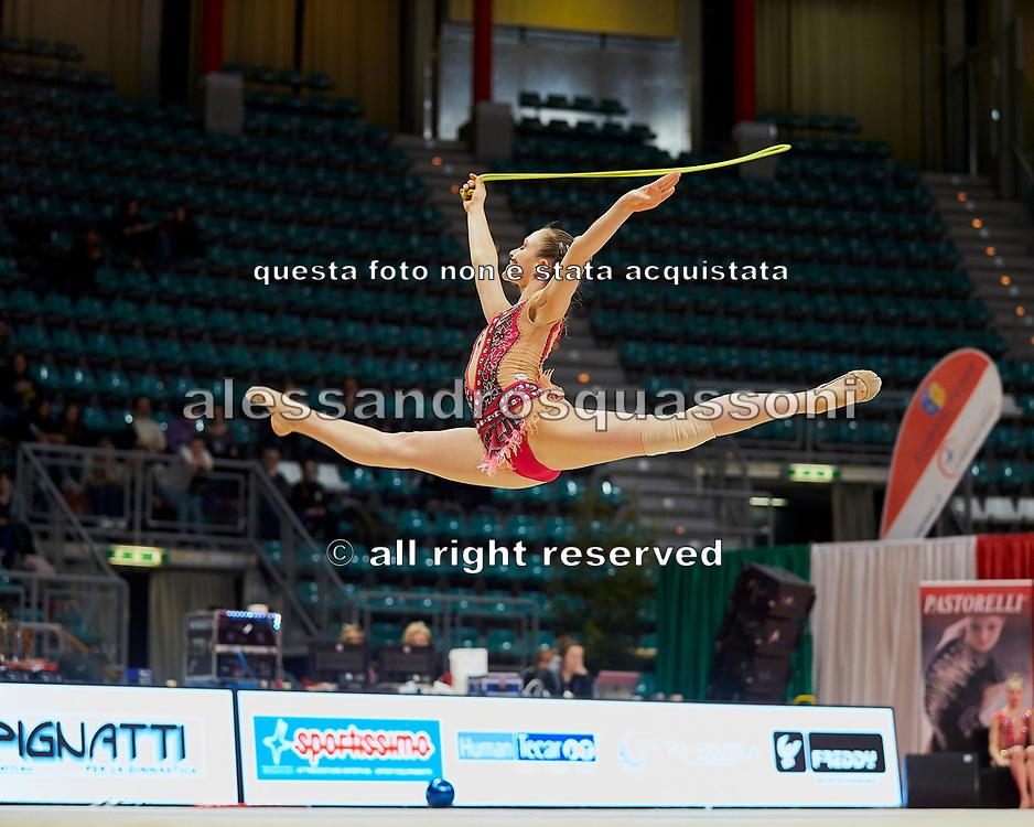 Chiara Vignolini from Raffaello Motto team during the Italian Rhythmic Gymnastics Championship in Bologna, 9 February 2019.