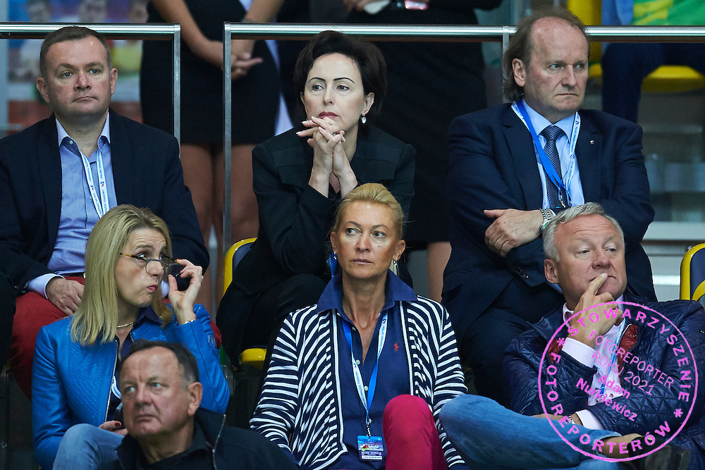 (C)  Dorota Idzi (Ministry of Sport) during Davis Cup Tie World Group Play-off Poland v Slovakia at Gdynia Arena Hall in Gdynia, Poland.<br /> <br /> Poland, Gdynia, September 20, 2015<br /> <br /> Picture also available in RAW (NEF) or TIFF format on special request.<br /> <br /> For editorial use only. Any commercial or promotional use requires permission.<br /> <br /> Adam Nurkiewicz declares that he has no rights to the image of people at the photographs of his authorship.<br /> <br /> Mandatory credit:<br /> Photo by &copy; Adam Nurkiewicz / Mediasport