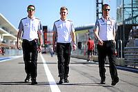 Kevin Magnussen (DEN) McLaren walks the circuit.<br /> United States Grand Prix, Thursday 30th October 2014. Circuit of the Americas, Austin, Texas, USA.