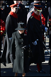 HM The Queen with Prince Harry attend the annual Remembrance Sunday Service at the Cenotaph, Whitehall, London, England. Sunday, 10th November 2013. Picture by Andrew Parsons / i-Images