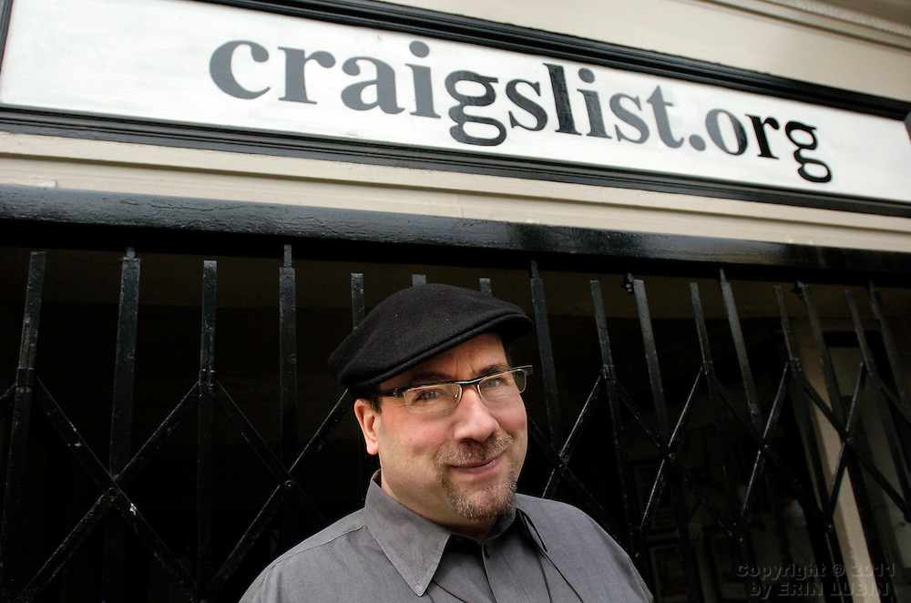 Craig Newmark, founder of Craigslist.org, stands outside the Craigslist headquarters in San Francisco, Calif. Monday morning, March 26, 2007. Craiglist.org is an internationally known and utilized website for classified advertisements and community forums..Photo by Erin Lubin/WpN