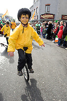 Participant   in Galway St Patrick's day parade. Photo:Andrew Downes Photography.