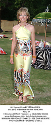 Art figure JULIA PEYTON-JONES, at a party in London on 16th June 2004.<br /> PWG 87