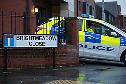 © Licensed to London News Pictures . 13/12/2015 . Bolton , UK . Police at the scene . Greater Manchester Police report they are conducting a murder investigation after a man , named locally as Carlton Alexander (23) , was stabbed on Brightmeadow Place in Breightmet in Bolton . Photo credit : Joel Goodman/LNP