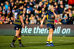 Ryan Mills of Worcester Warriors and Francois Venter of Worcester Warriors - Mandatory by-line: Robbie Stephenson/JMP - 03/02/2019 - RUGBY - Sixways Stadium - Worcester, England - Worcester Warriors v Wasps - Premiership Rugby Cup