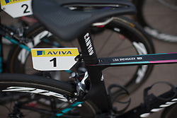 The bike of \lisbr of CANYON//SRAM Racing, the winner of the 2015 edition of the race.