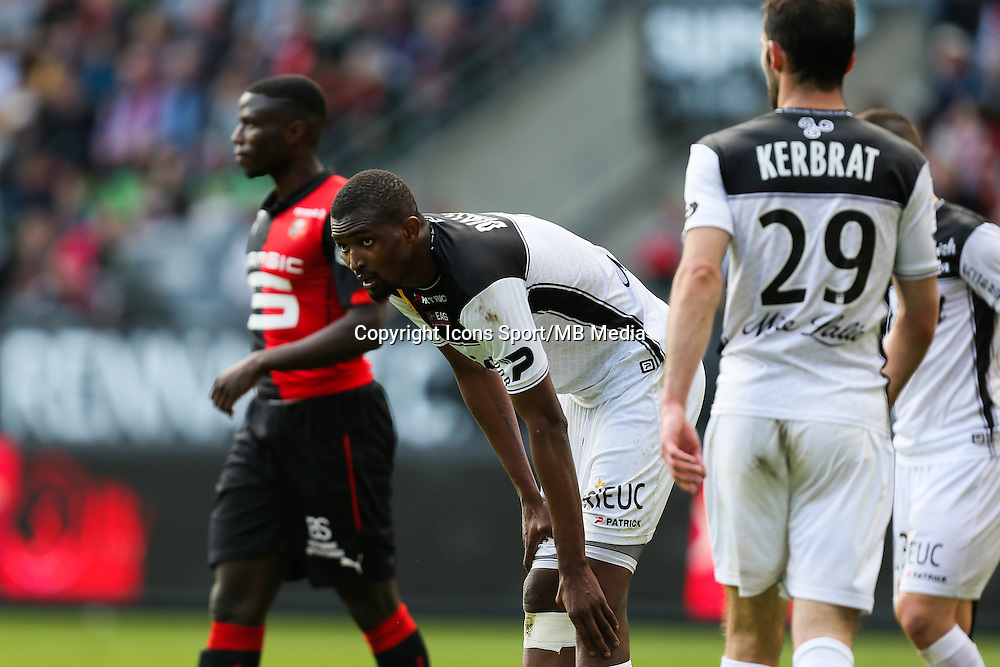 Moustapha DIALLO - 12.04.2015 - Rennes / Guingamp - 32eme journee de Ligue 1 <br /> Photo : Vincent Michel / Icon Sport