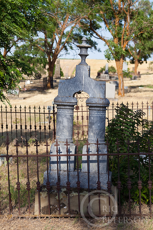 grave site in rural cemetary