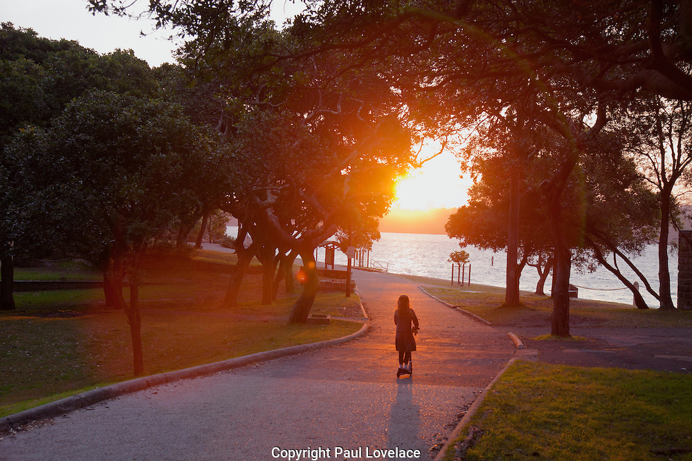 A path leading to the harbour beach at Nielsen Park, Sydney