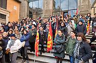 Roma 7 Gennaio 2015<br /> Protesta delle maestre di nidi e materne comunali e del sindacato Usb, in Campidoglio, contro il contratto decentrato unilaterale  imposto dal Sindaco Ignazio  Marino, e per difendere salario e qualità dei servizi pubblici.<br /> Rome January 7, 2015<br /> Protest of the teachers of nests and municipal nursery and union Usb, in the Capitol, against the decentralized contract unilaterally imposed by the mayor Ignazio Marino, and to defend wages and quality of public services.