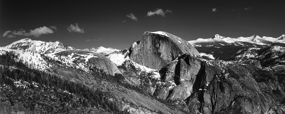 Half Dome Panoramic From Yosemite Point - Yosemite - Black & White