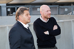 19.08.2014, Allianz Arena, Muenchen, GER, 1. FBL, FC Bayern Muenchen, Praesentation Mannschaftsbus Lions Coach, im Bild l-r: Direktor Medien und Kommunikation Markus Hoerwick (FC Bayern Muenchen) und Vorstand Matthias Sammer (FC Bayern Muenchen) // during the Presentation of the Lions Coach of German Bundesliga Club FC Bayern Munich at the Allianz Arena in Muenchen, Germany on 2014/08/19. EXPA Pictures © 2014, PhotoCredit: EXPA/ Eibner-Pressefoto/ Kolbert<br /> <br /> *****ATTENTION - OUT of GER*****