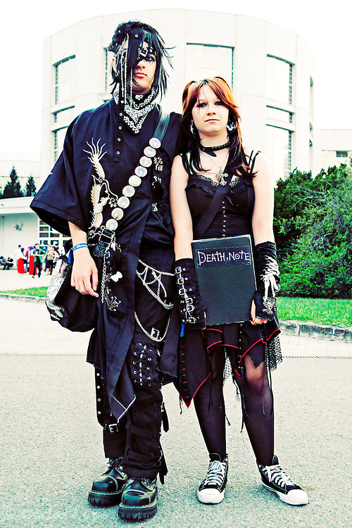 Cosplayers at the Anime fest 2012 in the city of Brno. Animefest is the oldest and largest anime and manga convention in the Czech Republic with around 2000 attendees in 2012. The festival offered a mix of contests (e.g. cosplay and AMV).