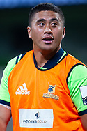 MELBOURNE, VIC - MARCH 01: Marino Mikaele-Tu'u (20) of the Highlanders looks on as he warms up on the pitch at The Super Rugby match between Melbourne Rebels and Highlanders on March 01, 2019 at AAMI Park, VIC. (Photo by Speed Media/Icon Sportswire)