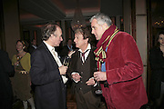 David Campbell, Nicky Haslam and Paul Blezard, Charles Finch and Weidenfeld and Nicolson host a party to celebrate the publication of 'Dancing Into Battle' by Nick Foulkes. The Westbury Hotel, Conduit St. London. 14 December 2006. ONE TIME USE ONLY - DO NOT ARCHIVE  © Copyright Photograph by Dafydd Jones 248 CLAPHAM PARK RD. LONDON SW90PZ.  Tel 020 7733 0108 www.dafjones.com