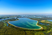 Nederland, Noord-Brabant, Werkendam, 23-08-2016; Nationale Park de Biesbosch, De Gijster. Spaarbekken voor de productie van drinkwater.<br /> Reservoir for the production of drinking water.<br /> aerial photo (additional fee required);<br /> copyright foto/photo Siebe Swart