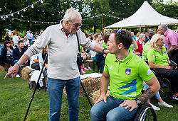 Tone Fornezzi Tof and Primoz Jeralic at Opening of photo exhibition of Slovenian Paralympic Athletes before Rio 2016, on July 14, 2016 in Arboretum Volcji potok, Slovenia. Photo by Vid Ponikvar / Sportida