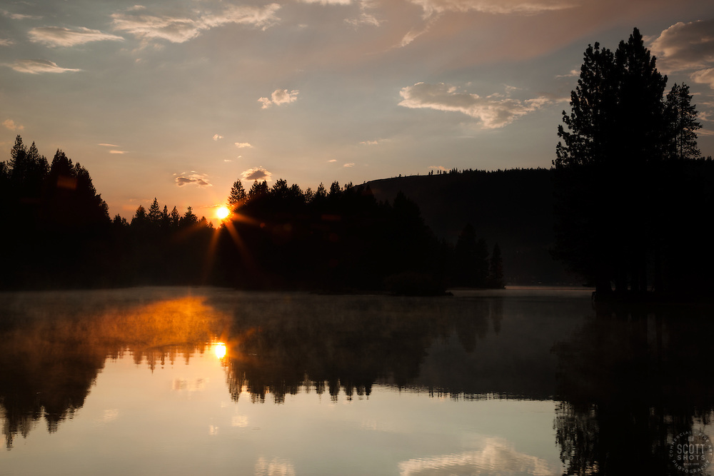 """Donner Lake Sunset 10"" - This sunset was photographed at the East end of Donner Lake, Truckee."