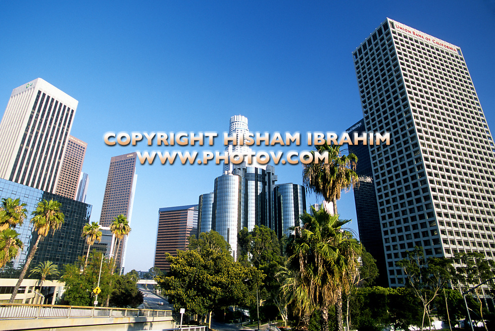 Los Angeles Downtown District Skyline, Los Angeles, California, USA.