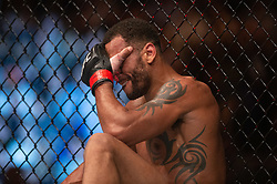 March 16, 2019 - London, United Kingdom - Claudio Silva beats Danny Roberts by verbal submission during UFC Fight Night 147 at the London O2 Arena, Greenwich on Saturday 16th March 2019. (Credit Image: © Mi News/NurPhoto via ZUMA Press)