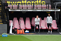 Football - 2019 / 2020 Premier League - Watford vs. Leicester City<br /> <br /> Leicester City manager Brendan Rodgers during the pre-match warm-up, at Vicarage Road.<br /> <br /> COLORSPORT/ASHLEY WESTERN