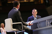Senator and GOP presidential candidate Ted Cruz listens to a question during the Heritage Foundation Take Back America candidate forum September 18, 2015 in Greenville, South Carolina. The event features 11 presidential candidates but Trump unexpectedly cancelled at the last minute.