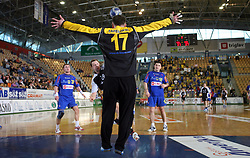 Goalkeeper Enid Tahirovic at handball match RK Cimos Koper vs RK Gold Club in final of Slovenian Handball Cup, on March 30, 2008 in Celje, Slovenia. Cimos Koper won the game 30:25 and became the Winner of Slovenian Cup. (Photo by Vid Ponikvar / Sportal Images).