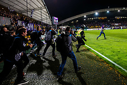 Fan runs on field to get jersey from their home players after wining national championship after football match between ND Gorica and NK Maribor in Round #32 of Prva liga Telekom Slovenije 2016/17, on May 5th, 2017 in Ljudski Vrt, Maribor, Slovenia. Photo by Grega Valancic / Sportida