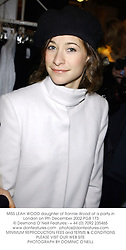 MISS LEAH WOOD daughter of Ronnie Wood at a party in London on 9th December 2002.PGB 173