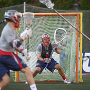A member of the Boston Cannons warms up on the field prior to the game at Harvard Stadium on August 9, 2014 in Boston, Massachusetts. (Photo by Elan Kawesch)