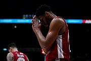 Brooks Jeff Preghiera Prega <br /> A X Armani Exchange Olimpia Milano - Vanoli Cremona <br /> Basket Serie A LBA 2019/2020<br /> Milano 09 February 2020<br /> Foto Mattia Ozbot / Ciamillo-Castoria