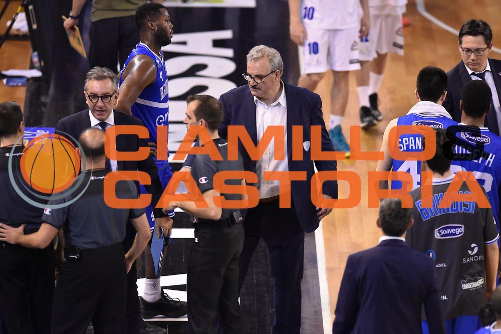 Sacchetti Meo<br /> Germani Basket Brescia vs Enel Brindisi<br /> Lega Basket Serie A 2016/2017<br /> Brescia 11032017<br /> Foto Ciamillo-Castoria/G. Ciamillo