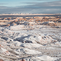 Snow covered Painted Desert, Petrified Forest National Park, AZ