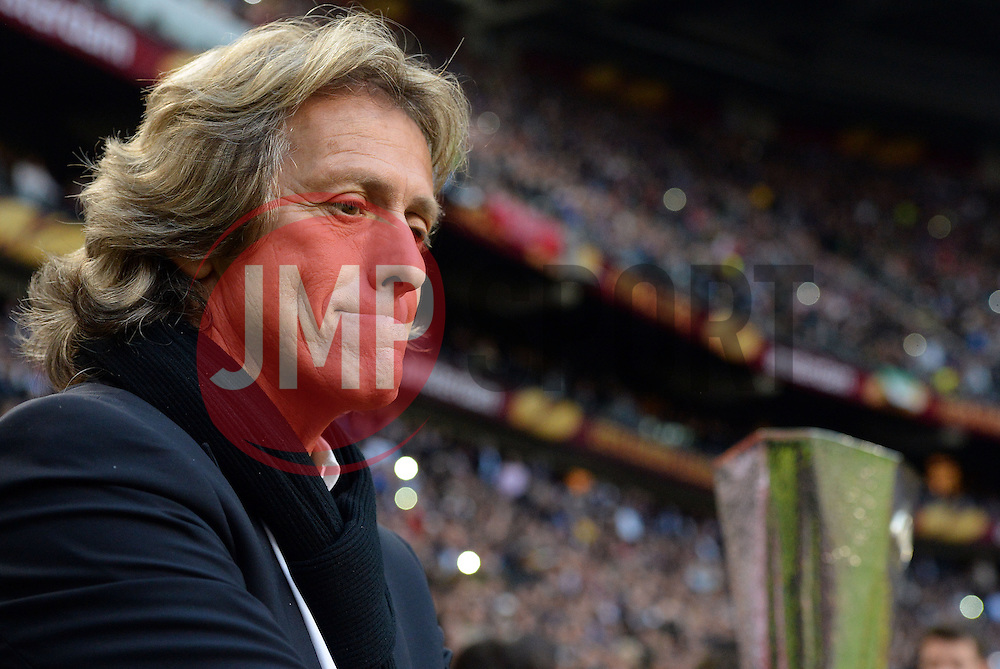 Benfica Manager, Jorge Jesus - Photo mandatory by-line: Joe Meredith/JMP - Tel: Mobile: 07966 386802 06/05/2013 - SPORT - FOOTBALL - EUROPA LEAGUE FINAL - Amsterdam Arena - Amsterdam - Benfica v Chelsea - Europa League Final