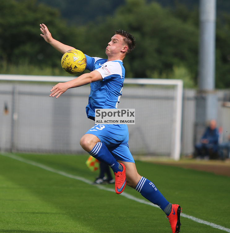 Jordan Marshall with good control on the wing during the Dumbarton FC V Queen of the South FC Scottish Championship 22th August 2015 <br /> <br /> (c) Andy Scott | SportPix.org.uk