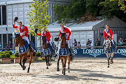 Team Belgien<br /> Rotterdam - Europameisterschaft Dressur, Springen und Para-Dressur 2019<br /> DEVOS Pieter (BEL), VERLOOY Jos (BEL), GUERY Jerome (BEL), WATHELET Gregory (BEL), WEINBERG Peter (Equipechef)<br /> Longines FEI Jumping European Championship part 2 - team 2nd and final round<br /> Finale Teamwertung 2. Runde<br /> 23. August 2019<br /> © www.sportfotos-lafrentz.de/Stefan LafrentzTeam Belgien<br /> Rotterdam - Europameisterschaft Dressur, Springen und Para-Dressur 2019<br /> AHLMANN Christian (GER), DEUSSER Daniel (GER), BLUM Simone (GER), EHNING Marcus (GER), BECKER Otto (Bundestrainer Springen)<br /> Longines FEI Jumping European Championship part 2 - team 2nd and final round<br /> Finale Teamwertung 2. Runde<br /> 23. August 2019<br /> © www.sportfotos-lafrentz.de/Stefan Lafrentz