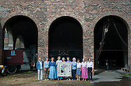 The First Reform Act panel stitchers pose for a portrait at the National Mining Museum in Newtongrange for the Great Tapestry of Scotland project. <br /> www.scotlandstapestry.com<br /> <br /> pictures by Alex Hewitt