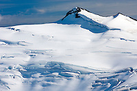 Glaciers flowing down from Icemaker Mountain 2745 m (9006 ft), Coast Mountains British Columbia Canada