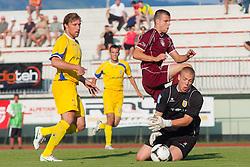 Football match between NK Triglav Kranj and NK Domzale, 5th Round of Prva Liga, on 12 August, 2012, in Sportni center, Kranj, Slovenia. (Photo by Grega Valancic / Sportida)
