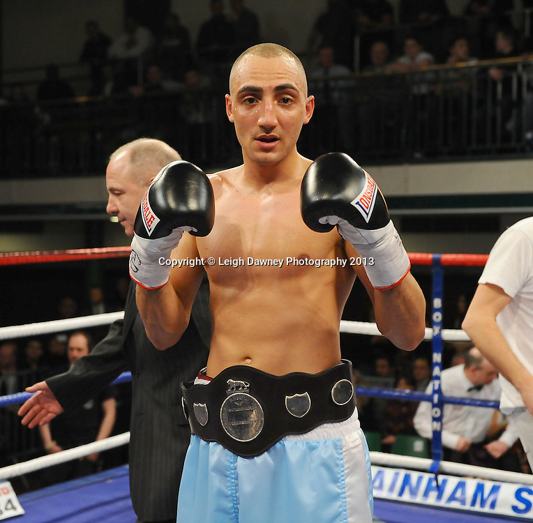 Bradley Skeete defeats Peter McDonagh for the Southern Area Welterweight Title at York Hall, Bethnal Green, London, UK on the 21st March 2013. Frank Warren Promotions. © Leigh Dawney Photography 2013.