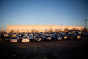 The Amazon warehouse parking lot is filled by seasonal workers in Fernley, Nevada, December 13, 2011. CREDIT: Max Whittaker/Prime for The Wall Street Journal.AMAZONTOWN